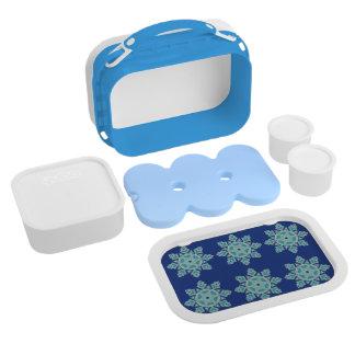 Blue Ice Geometric Star Lunch Box