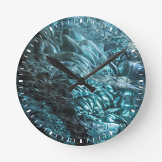 Blue ice of an ice cave, Iceland Round Clock