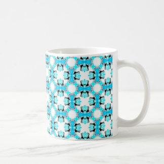 Blue Ice Stars Aqua Modern Abstract Lattice Coffee Mug