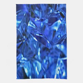 Blue ice tea towel
