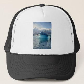 Blue iceberg trucker hat