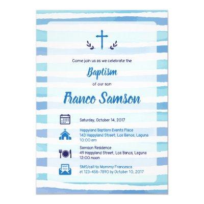 Boys nautical christening baptism invitation zazzle stopboris Choice Image