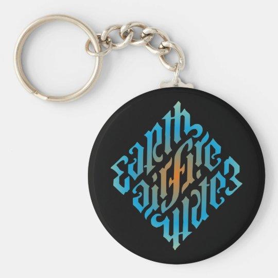 Blue Illuminati Symbol Basic Round Button Key Ring