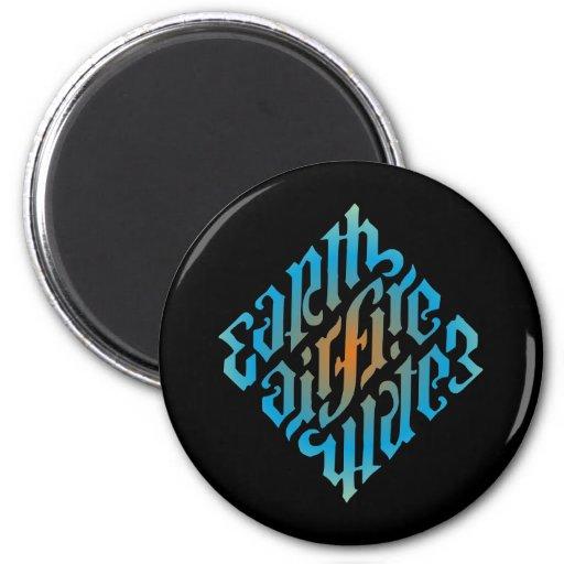 Blue Illuminati Symbol Fridge Magnets