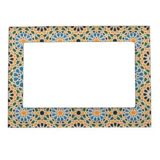 Blue In Bloom Pattern Magnetic Frame