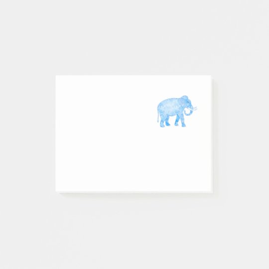Blue Indian Elephant with Fancy Pattern Post-it Notes