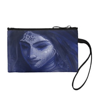 blue indian lady coin purse