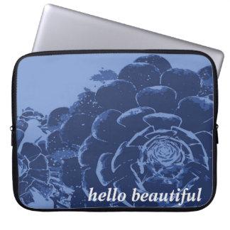 Blue Indigo Floral Laptop Sleeve