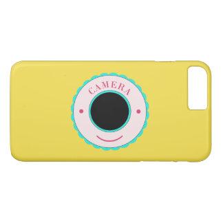 Blue individuality camera & smile iPhone 7 plus case