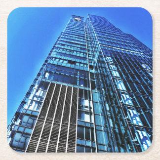 Blue Industrial Building Paper Coaster