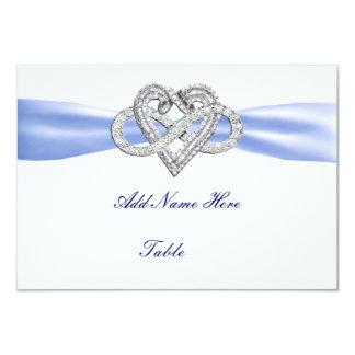 "Blue Infinity Heart Wedding Table Place Card 3.5"" X 5"" Invitation Card"