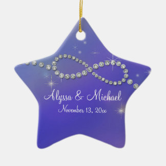 Blue Infinity Symbol Sign Infinite Love Twinkling Christmas Ornament