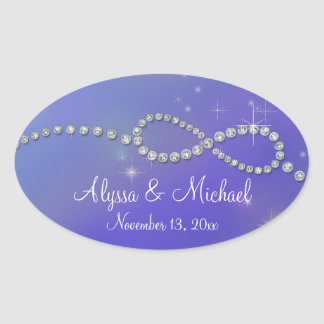 Blue Infinity Symbol Sign Infinite Love Twinkling Oval Sticker