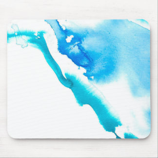 Blue Ink Bleed Mouse Mat