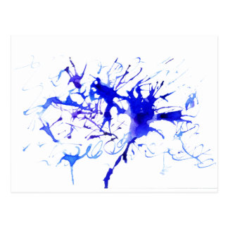 Blue Ink Blot Postcard