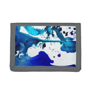 Blue Ink Splatter on Photo Wallet