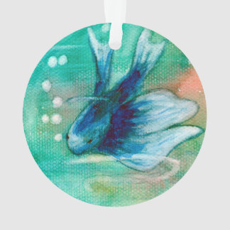 Blue Inky Betta Fish
