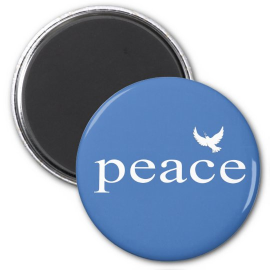 Blue Inspirational Peace Quote Magnet