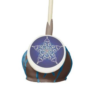Blue Iridescent Star Cake Pops