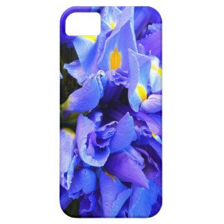 Blue Iris Apophysis Flower Design iPhone 5 Cases