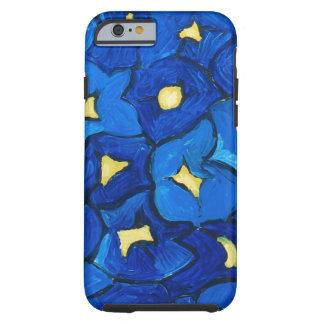 Blue Iris Bouquet Pattern Tough iPhone 6 Case