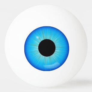 Blue Iris Eyeball Ping Pong Ball
