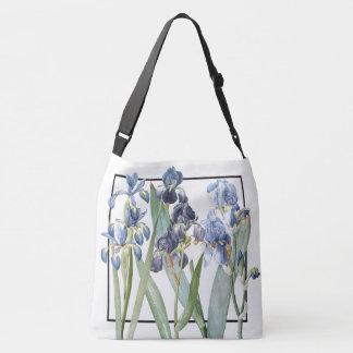 Blue Iris Flowers Garden Shoulder Tote Bag