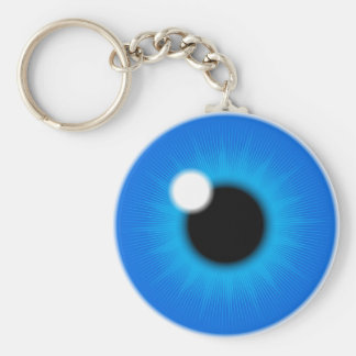 blue iris key ring
