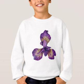 Blue Iris Siberica Flower Sweatshirt