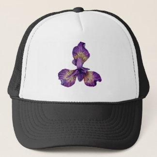 Blue Iris Siberica Flower Trucker Hat