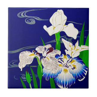 Blue Iris Small Square Tile