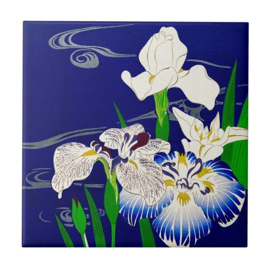 Blue Iris Small Square Tile