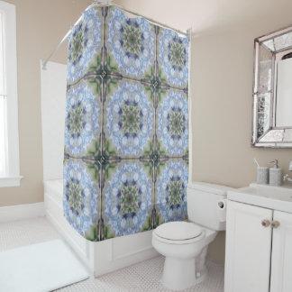 Blue Iris Star Shower Curtain