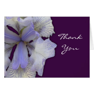 Blue Iris Thank You Note card