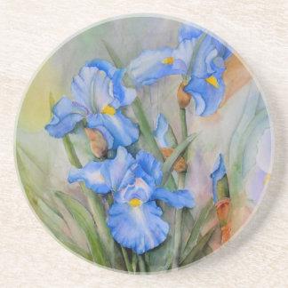 Blue Iris watercolour Coaster