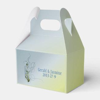 Blue Iris Wedding Suite Party Favor Boxes