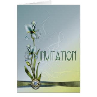 Blue Iris Wedding Suite Invitation Greeting Card
