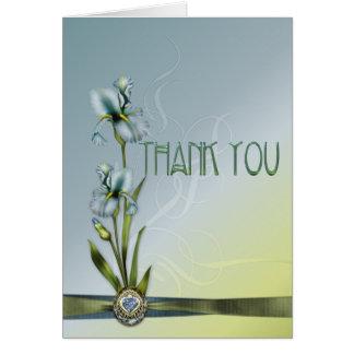 Blue Iris Wedding Wedding Suite Thank You Greeting Card