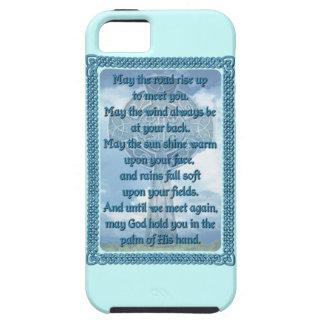 Blue Irish Blessing Tough iPhone 5 Case