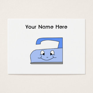 Blue Iron Cartoon. On White. Business Card