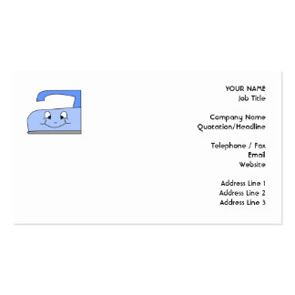 Blue Iron Cartoon. On White. Business Card Templates