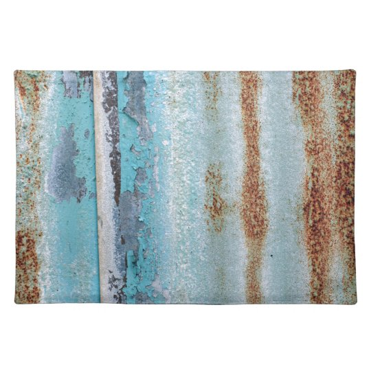 Blue iron texture wall placemat