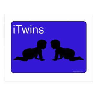 Blue iTwins Postcard