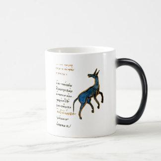 Blue Jackass Morphing Mug