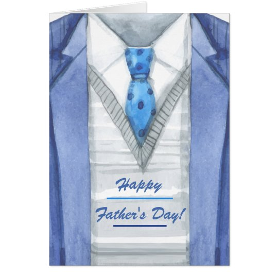 Blue Jacket Father's Day Greeting Card