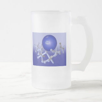 Blue Jacks and Ball Set Classic Retro Frosted Glas Frosted Glass Mug