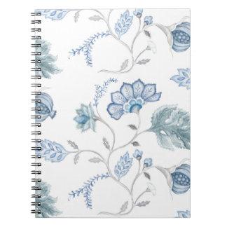 Blue Jacobean Blank Journal Notebooks