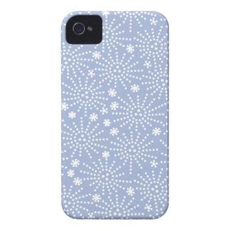 Blue Japanese Firework Pattern iPhone 4/4S Case