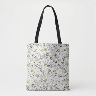 Blue Jasmine Tote Bag All-Over Print