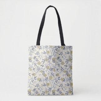 Blue Jasmine Tote Bag All-Over Print